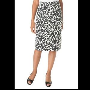 NWOT Jessica London Animal Print Pencil Skirt